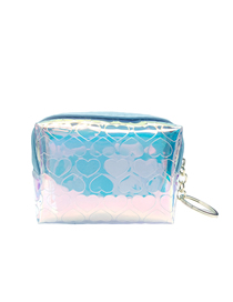 Fashion Blue Love Laser Scrub Star Children's Coin Purse