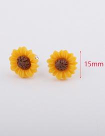 Fashion 15mm Yellow Sun Flower Earrings