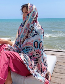 Fashion Color Pattern Printed Scarf Sunscreen