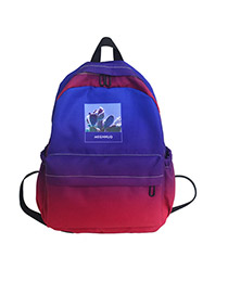 Fashion Navy Blue Canvas Backpack