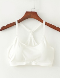 Fashion White Mesh Wrapped Chest Top