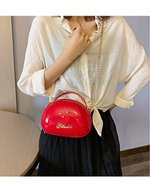 Fashion Red Chain Crossbody Shoulder Bag