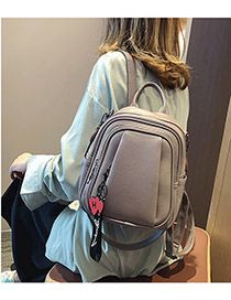 Fashion Purple Cartoon Pendant Backpack