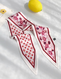 Fashion Orchid Rice Noodles Sharp Scarf