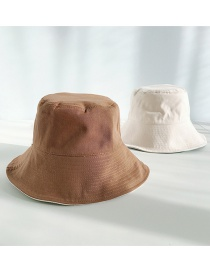 Fashion Cotton Double-sided Coffee Double-sided Big Fisherman Hat