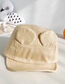 Fashion Earmuffs: Beige Ear Canvas Soft 檐 Children's Baseball Cap