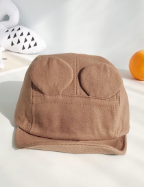 Fashion Ear Soft Hat: Coffee Ear Canvas Soft 檐 Children's Baseball Cap