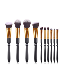 Fashion Black 10 Hoist Sword Makeup Brush