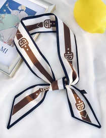 Fashion Belt Pattern Brown Belt-small Scarf