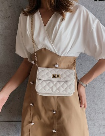 Fashion White Grids Pattern Decorated Bag