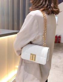 Fashion White Square Chain Shoulder Messenger Bag