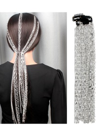 Fashion Silver Silver Plated Hair Chain