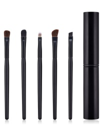 Fashion Black 5-pack Eye Makeup Brush