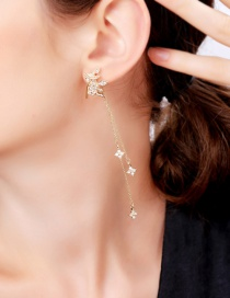 Fashion Crown S925 Sterling Silver Crown Tassel Earrings