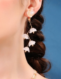 Fashion Acrylic Flower Earrings Flower Ear Clip Without Pierced Ears
