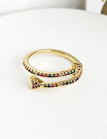 Fashion Gold Color Arrow Shape Decorated Opening Ring