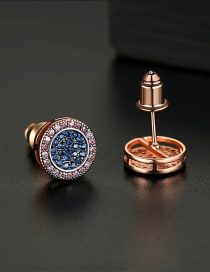 Fashion Rose Gold Round Pavé Earrings