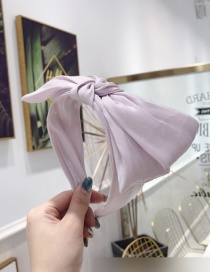 Fashion Pink Fabric Double-layer Bow Wide-brimmed Headband