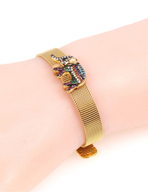 Fashion Gold Diamond Diamond Stainless Steel Mesh Strap Bracelet