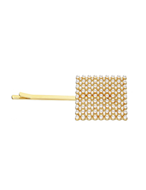 Fashion Square Full Of Pearls Geometric Alloy Pearl Hairpin