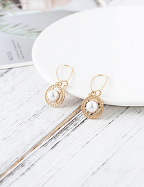 Fashion Gold Pearl Round Earrings
