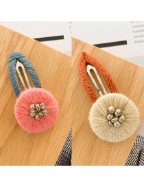 Fashion Beige + Pink (pair Of Clips) Winding Color Matching Clip