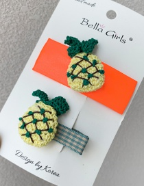 Fashion Orange Woven Fruit Hair Clip Set