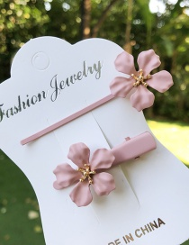 Fashion Pink Small Flower Hairpin
