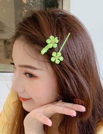 Fashion Green Small Flower Hairpin
