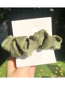 Fashion Green Cotton Linen Hair Ring
