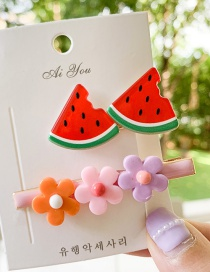 Fashion Watermelon Fruit Hair Clip