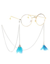Fashion Gold Metal Lace Flower Glasses Chain