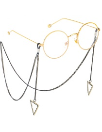 Fashion Black Hanging Neck Triangle Glasses Chain