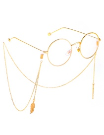 Fashion Gold Metal Leaf Glasses Chain