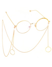 Fashion Gold Non-slip Metal Geometric Round Glasses Chain