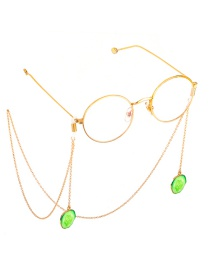 Fashion Gold Non-slip Metal Vegetable Cucumber Glasses Chain