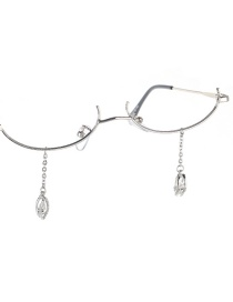 Fashion Silver Water Drop Zircon Rhinestone Glasses Chain