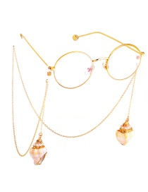 Fashion Gold Metal Small Conch Glasses Chain