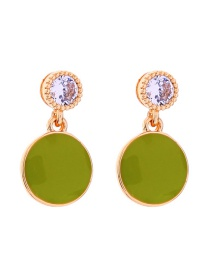 Fashion Green S925 Sterling Silver Drip Earrings