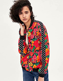 Fashion Color Printed Jacket