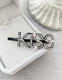 Fashion Black-kiss Flash Diamond Hairpin