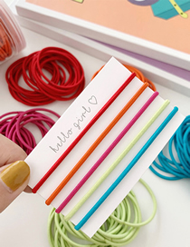 Fashion Thick Section - Bright Color Cloth Hair Ring