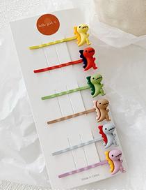 Fashion Colorful System / 6 Little Dinosaur Clip