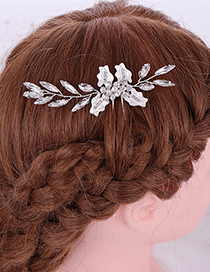 Fashion White Crystal Hairpin