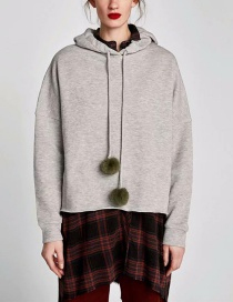 Fashion Gray Grey Ball Sweater