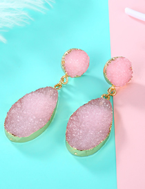Fashion Pink Imitation Natural Stone Earrings