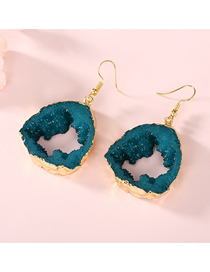 Fashion Blue Hollow Geometric Resin Earrings