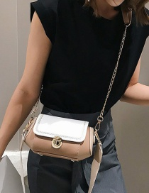Fashion White Color Matching Hand Shoulder Shoulder Bag