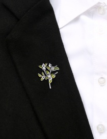 Fashion Green Alloy Drip Branch Leaves With Pearl Brooch