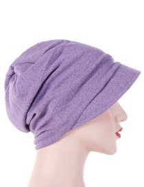 Fashion Light Purple Cotton Hooded Hex Headgear